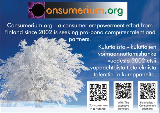 Image for Consumerium.org A6 cards of 2020